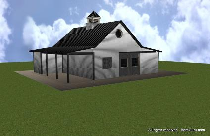 check out all of our horse barn designs and plans - Pole Barn Design Ideas
