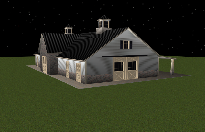 Add Brick or Rock To Create A Luxury Horse Barn