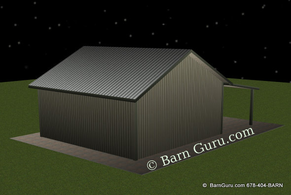 Tractor Shed - Ga Horse Barn Builder - Plans