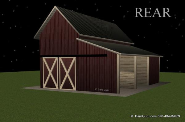 2 Stall Shed Row Horse Barn Beaverdale