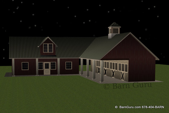 New shed row Horse Barn With Living Quarters Barn Home Plans Single Story With Bat on single story guest house plans, mini barn plans, barn condo plans, single story garage apartment plans, small barn plans, 3-story apartment building plans, single story log cabin plans,
