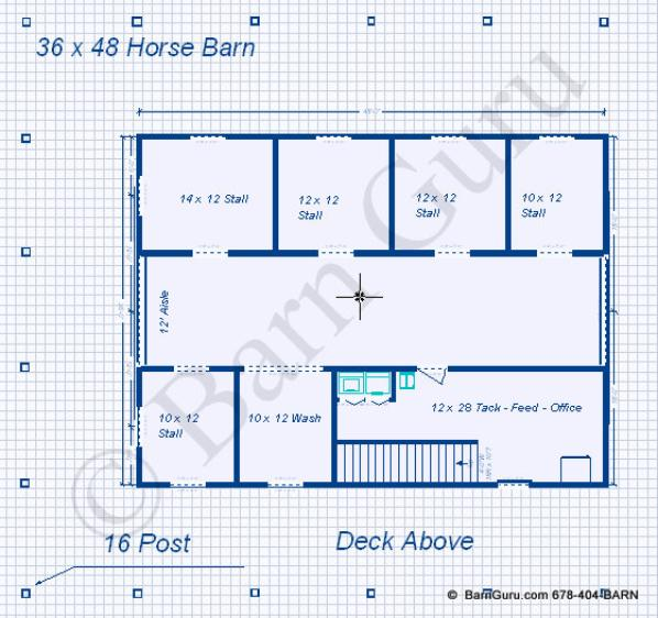 Plans for barns with living quarters plans diy free for Horse barn plans free