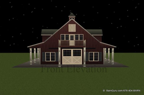 5 Stall Horse Barn W Living Quarters  3 Bedroom Apt Above