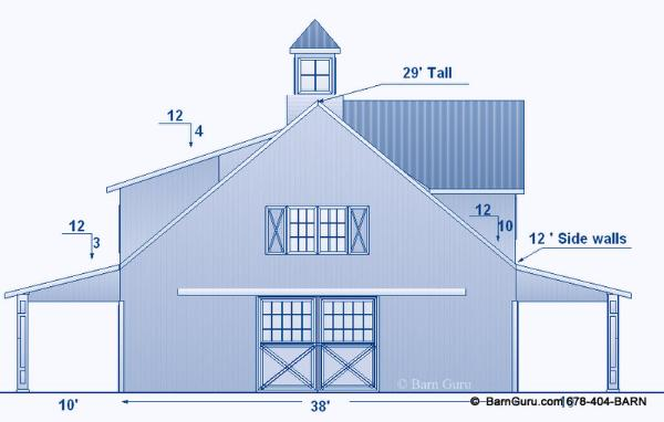 horse barn elevation