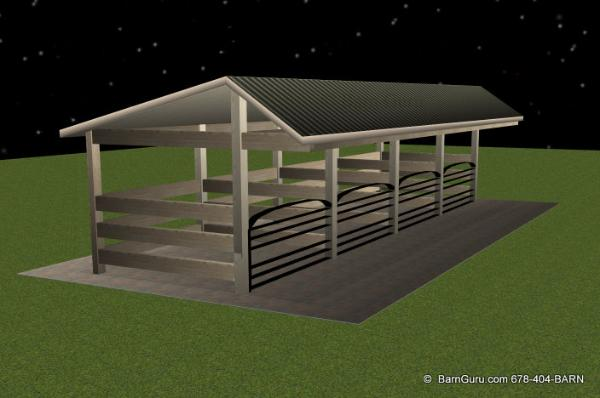 Shed plans Horse run in shed plans design