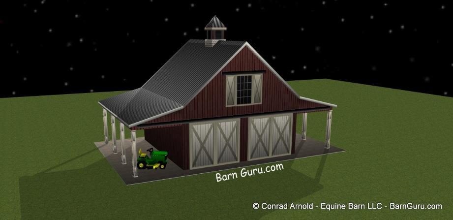 two car garage that looks like a horse barn