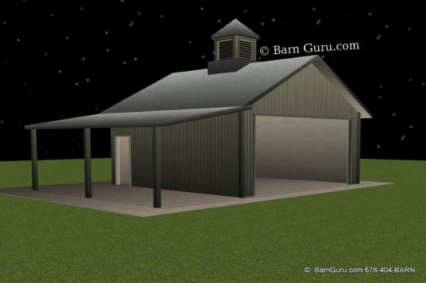 Tractor Shed - Ga Horse Barn Builder