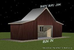 Horse Run = In Shed That Looks Like A gable Barn From The Front - Conrad Arnold ©