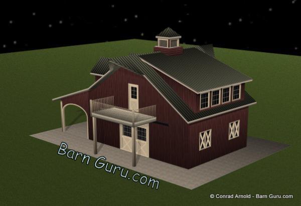 2 horse barn plans car interior design for Two stall barn plans
