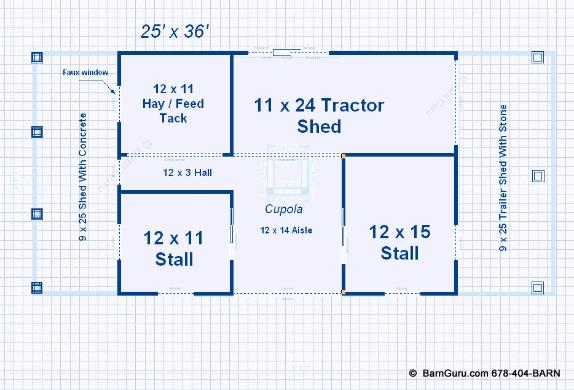 pdf plans small horse barn designs 8x10x12x14x16x18x20x22x24 - Horse Barn Design Ideas
