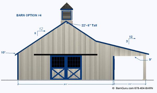 4 stall horse barns images galleries for Four stall horse barn