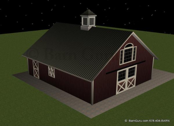 Barn Plans 4 Stall Horse Barn Design Floor Plan The Jenna