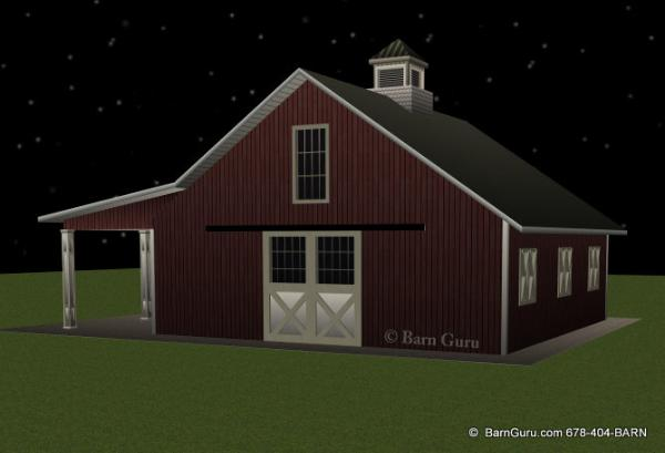 Horse Barn With 4 Stall - Ga Barn Builder
