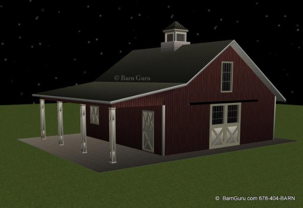 4 stall horse barn plans the image kid for 4 horse barn