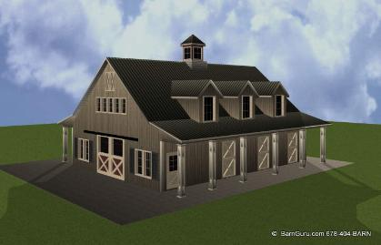 Horse Barn Builder In Georgia - Ga Pole Barn Builders -Horse ...