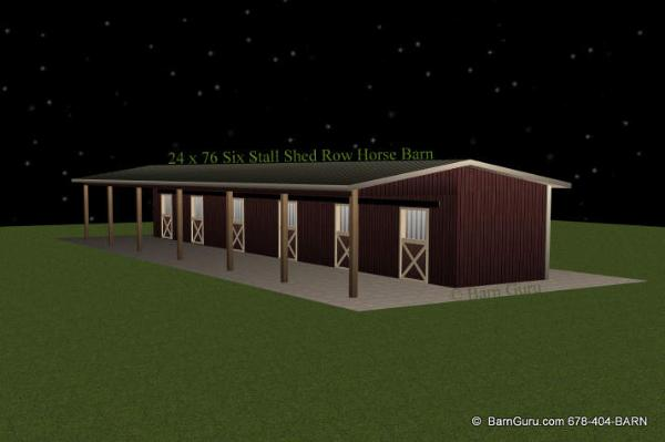 Storage build run in sheds plans free for 6 stall horse barn plans