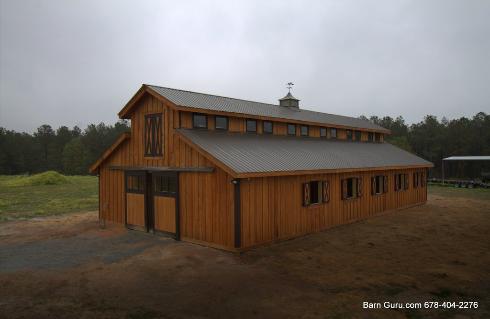 Barn Plans 10 Stall Horse Barn Design Floor Plan