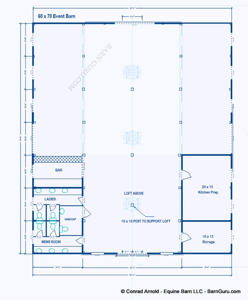 Party Event Barn Plans Design Floor Plan