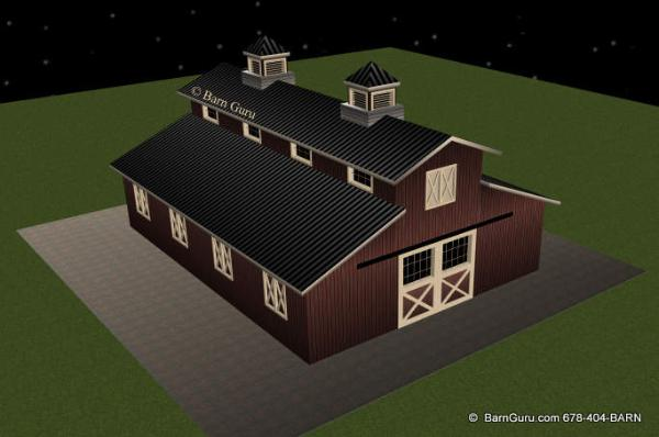 Horse Barn Design - Ga Builder Plans For Sale
