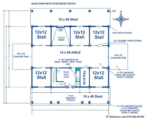 Barn with apartment above plans latest bestapartment 2018 for Horse barn with apartment floor plans