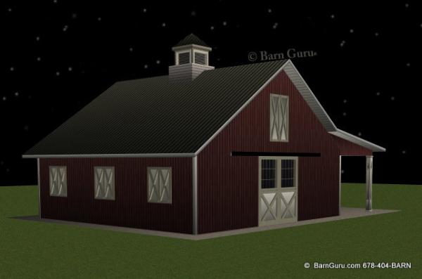 Shedaria access horse barn plans georgia for 4 stall horse barn plans