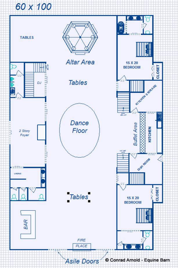 Event Barn Plans Design Floor Plan