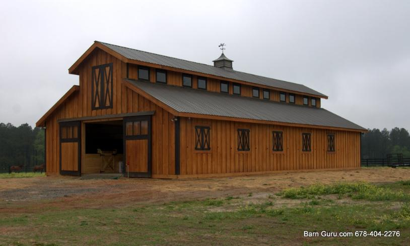 10 stall monitor cypress horse barn design floor plan for 10 stall horse barn floor plans