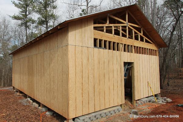 Siding options for horse barns for Cheap siding options