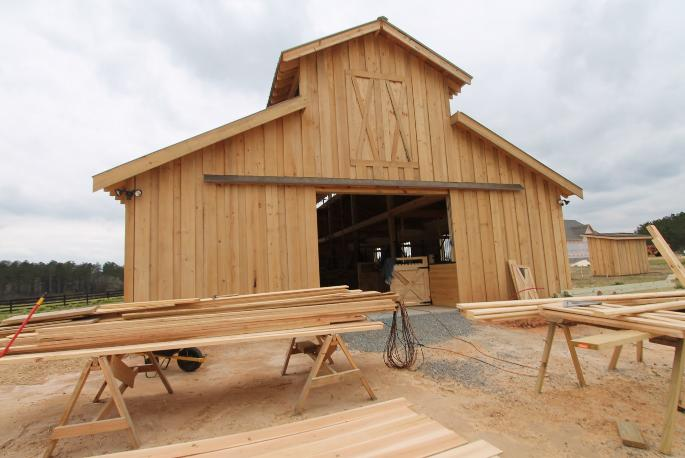 Pole barns with living quarters by amish joy studio for Amish built pole barn houses