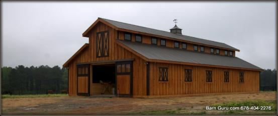 how to build a pole barn roof
