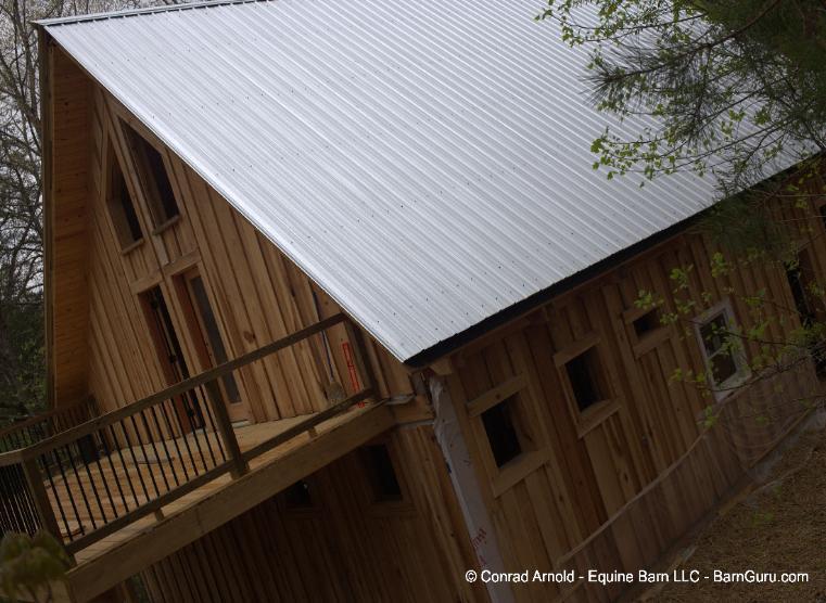Passive Solar Barn Home