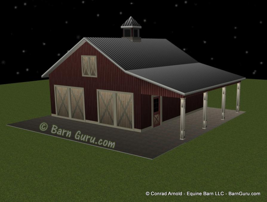 2 Car Garage Plans Barn Style, Barn Style Garage Plans
