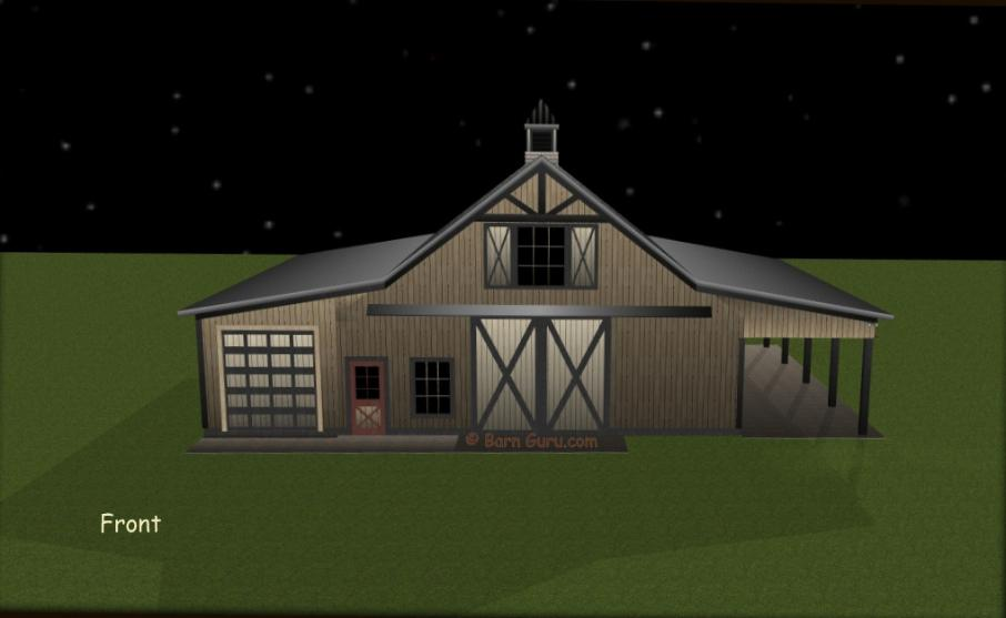4 Stall Horse Barn Plans With Storage