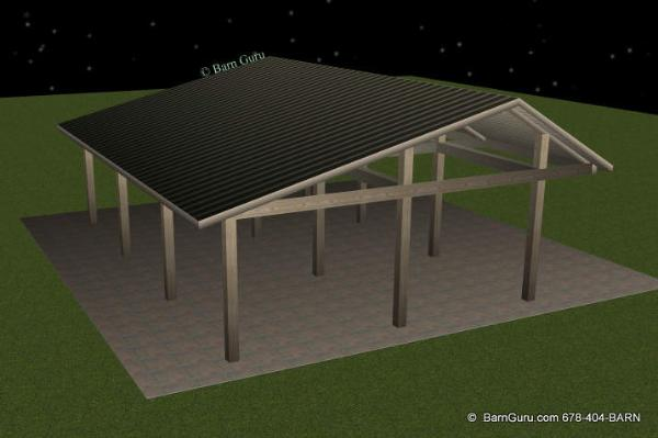 Run In 3 Stall Horse Barn Lean To Tractor Shed Design Plans