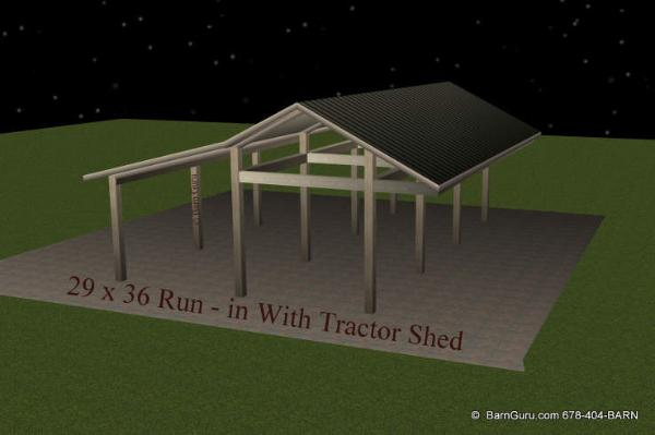 Horse Lean to Shed Plans