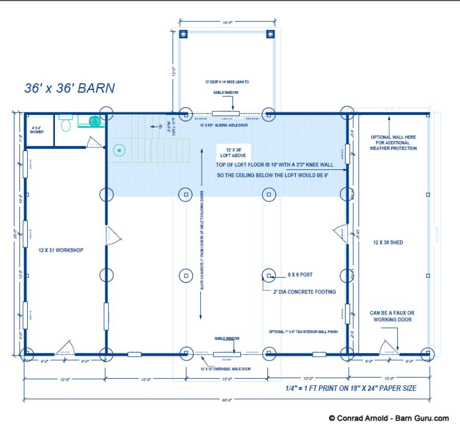 Storage Barn Plans For Sale