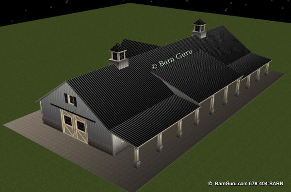 Barn Plans 12 Stall Horse Barn Design Floor Plan