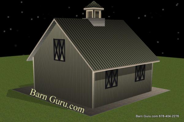 Two Stall Horse Barn Plans